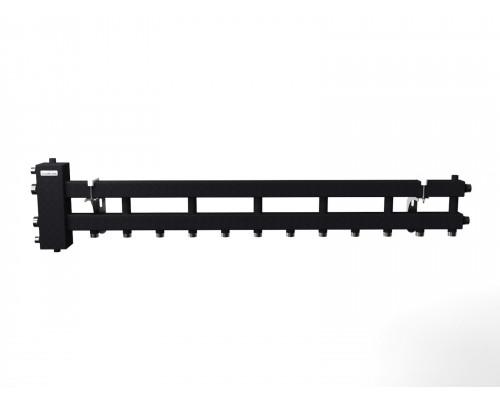 """BM-100-7D (до 100 кВт, подкл. котла G 1¼″, 6+1 контура G 1″, цвет """"черный c серебром"""")"""
